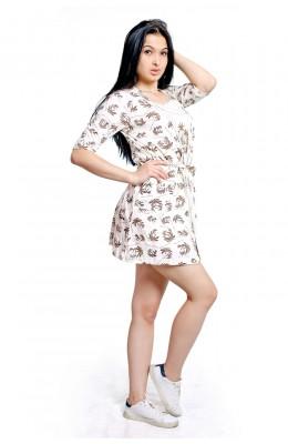 Халаты лямки с печатью для женщин 100.252_XL